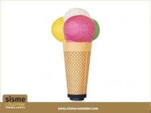 Şişme Küllahlı Dondurma